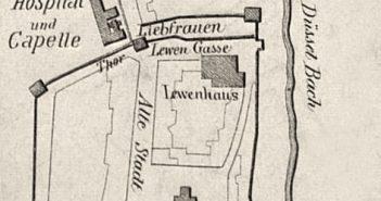 """Vermutlich der """"Stadtkern"""" im Jahr 1288"""