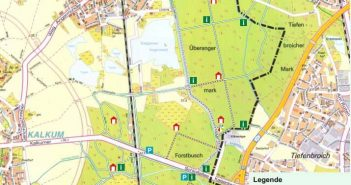 Forstkarte für die Überanger Mark und den Kalkumer Forst
