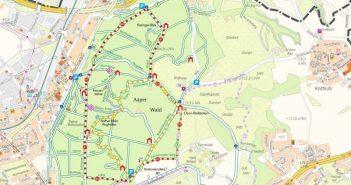 Übersichtskarte Aaper Wald