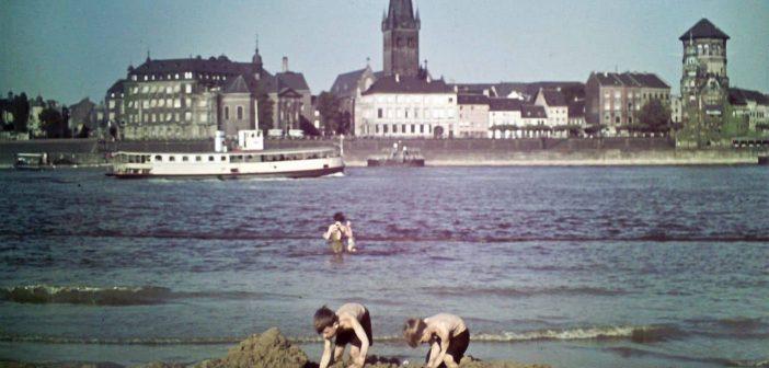 Baden im Rhein bei Düsseldorf um 1930 (Foto: WDR Digit)