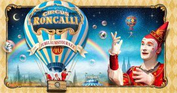 Ein Roncalli-Plakat: Voll die verschwiemelte Zirkusromantik