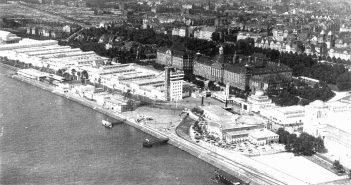 Die Rheinterrasse während de Gesolei 1926