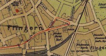 Ausschnitt aus einem Stadtplan von 1909
