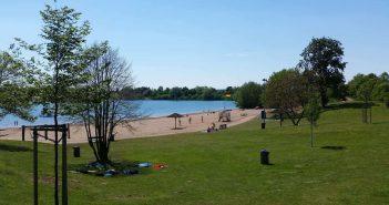 Sport und Schwimmspaß am See - der Straberger See (Foto: Kreiswerke Grevenbroich)