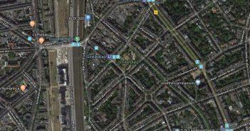 Google-Map: Mein Zustellgebiet 1969