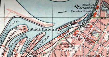 So sah der Düsseldorfer Hafen ca. 1911 aus