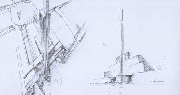 Entwurf für ein Hochhaus für das Atlantropa-Projekt (Abb.: Wikimedia)