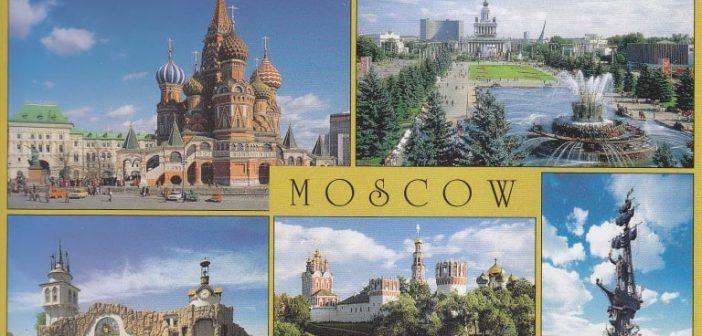 Eine klassische Moskau-Postkarte