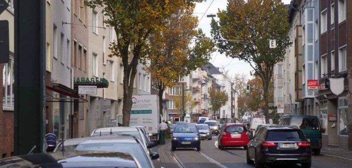 Das obere Ende der Derendorfer Straße