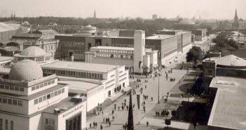 Blick in die Hauptstraße der GeSoLei (Foto: Stadtarchiv Düsseldorf)