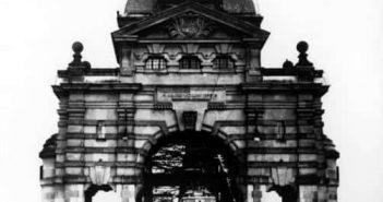 Portal der ersten Oberkasseler Brücke (Foto: Rheinbahn)