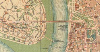 Stadtplan Düsseldorf von 1905: Oberkassel in der Entstehung