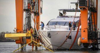 """Der Kran """"Big Willi"""" - Maskottchen der boot"""