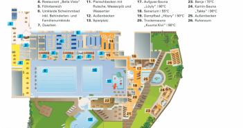 Familienbad Niederheid - der Plan mit allen Einrichtungen in der Übersicht