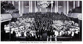 Aufführung der VIII. Sinfonie von Mahler in der Alten Tonhalle (1904)