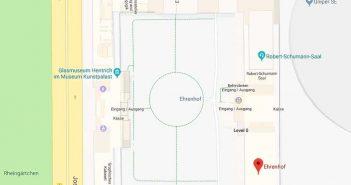Google-Maps: Der nördliche Teil des Ehrenhofs