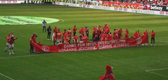 F95 vs Hannover: Zwischen Mannschaft und Fans passt kein Blatt Papier