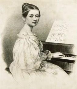 Clara Wieck im Alter von 15 Jahren (Abb.: Wikimedia)