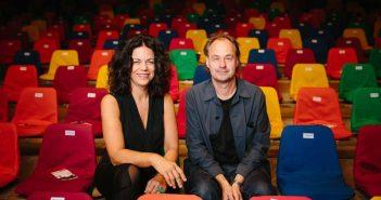 Christiane Oxenfort und Andreas Dahmen, Gründer und Intendanten des düsseldorf festival seit 1991