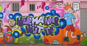 Prächtige Bilder in der Grafitti-Hall-of-Fame in Eller