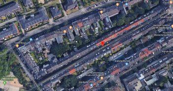 Google-Map: Füsilier- und Kanonierstraße am Frankenplatz