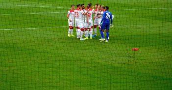 F95 vs Freiburg: Mannschaftskreis