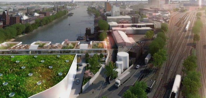 So werden die C-View Offices an Stelle der Hermes-Papierfabrik aussehen