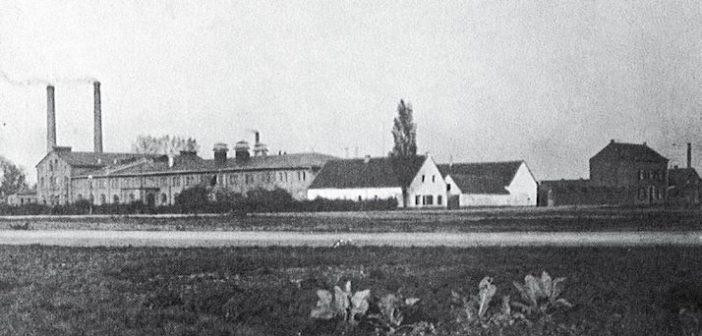 Papierfabrik Schulte vor dem ersten Weltkrieg - mitten in ländlicher Lage