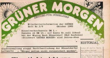 """Das Prunkstück der frühen Jahre: Mitgliederzeitung """"Grüner Morgen"""""""