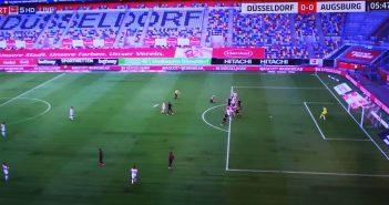 F95 vs Augsburg - die Situation vor dem 1:0 für Fortuna