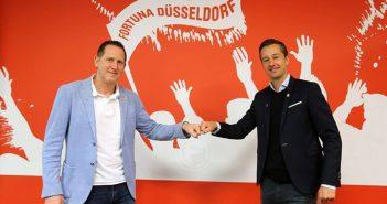 Uwe Klein (links), der neue Fortuna-Sportvorstand (Foto: F95)