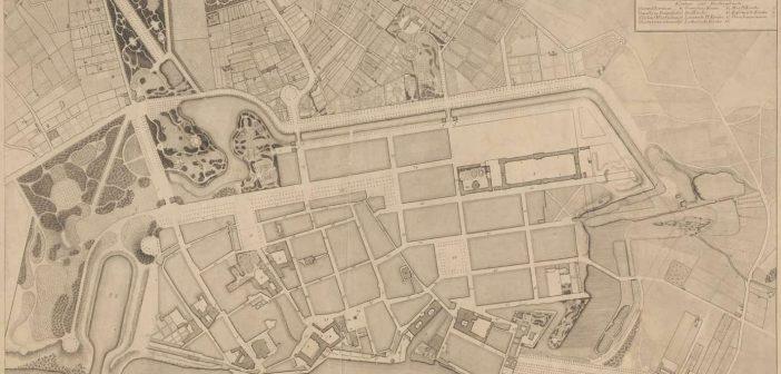 Die Planung für die Grünanlagen und Parks von 1809 (via Wikimedia)