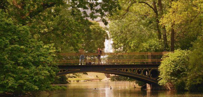 Die berühmte goldene Brücke im Hofgarten an der Landskrone (eigenes Foto)