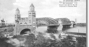 Das erste große Brückenprojekt, an dem Hein, Lehmann beteiligt waren: die Hohenzollernbrücke in Köln