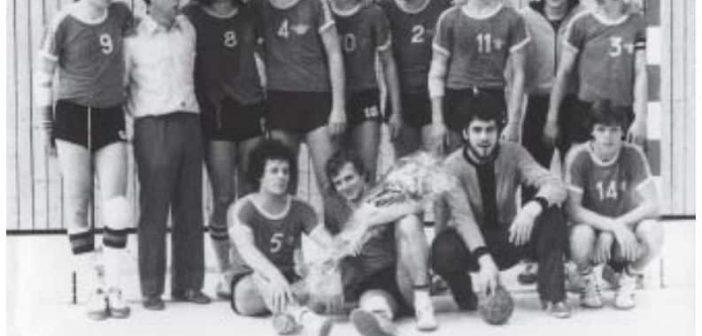 Schulhandball in den 60ern: Hier die Mannschaft des Rethel-Gymnasiums von 1967